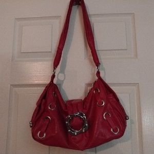 Handbags - Red Leather Sassy Hobo - Excellent Condition